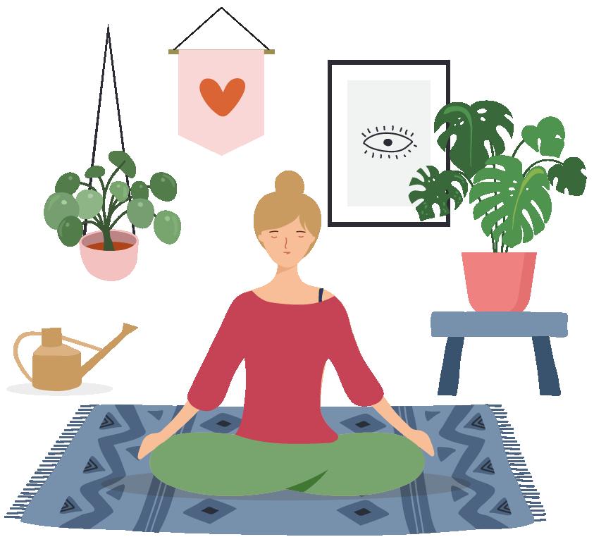 medytacja w salonie online